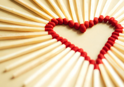 matchsticks heart