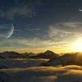Mountains View of Planets