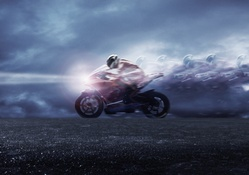 Speed of Sports Bike