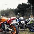 Hornet & CB100R Bikes on Road