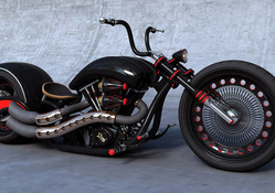 Black Custom Chopper