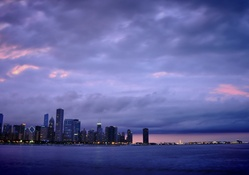 Night View of Chicago USA