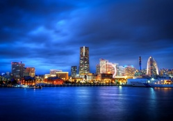 Japan Yokohama City in Night View
