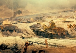 The Battle of Stalingrad Painting Artwork