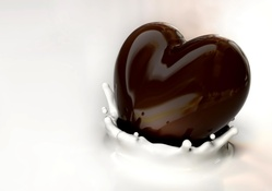 Milk And Chocolate Valentine's Day Heart