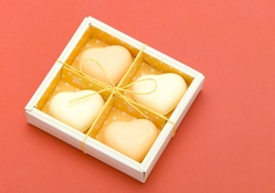White Chocolate Hearts Valentine's Day