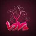 Love In Pink Background