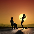 Love Dance Sunset Picture