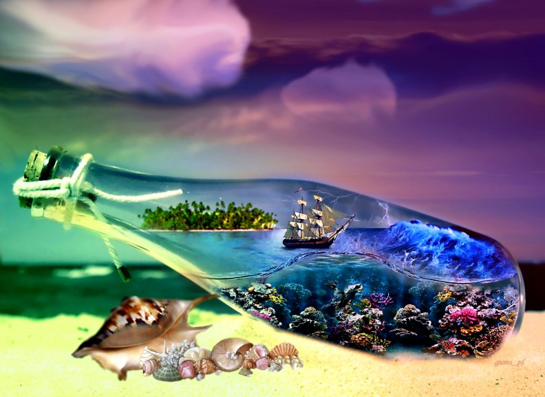 bottle ship wallpaper hd desktop - photo #12