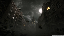 Dark City Autumn Scene