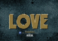 love _ Gold Text Effect_Photoshop_Cc_By KarimGFX