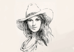 Cowgirl Sketch