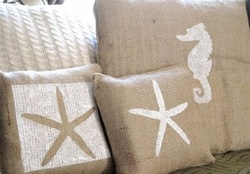 sea symbols _cushions _neutral
