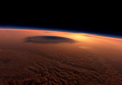 OLYMPUS MONS ON MARS _ THE LARGEST VOLCANO