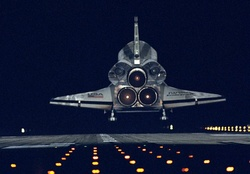 Rear of Space Shuttle Endeavor Landing