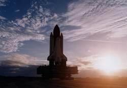 Space Shuttle _ Setting Sun