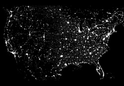 United States from Space _ Lights / Power
