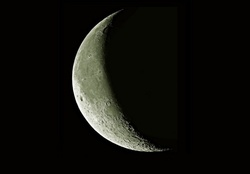 Quarter Crescent Moon