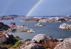 Rainbow over Swedish Islands