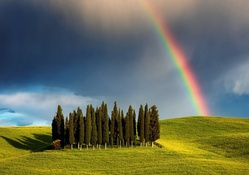 Rainbow in Tuscany