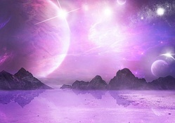 Purple Sky Space