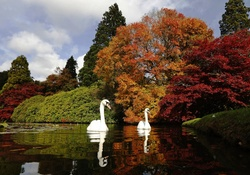Sheffield Park Garden in Southern England