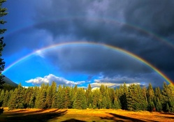 Double Rainbow Near Jasper National Park