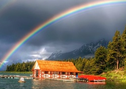 Rainbow Falling In The River