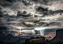 Lightning Storm at the Grand Canyons