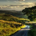 beautiful countryside road hdr