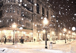 snow storm on a belgrade winter night
