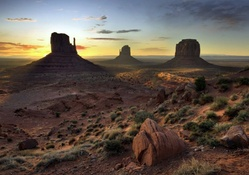 Sunrise on Monument Valley, Arizona