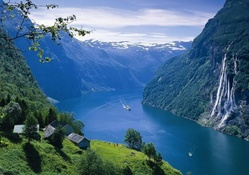 spectacular view of a norwegian fjord