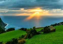 Morning Light In Azores Islands