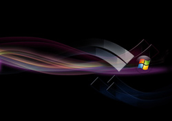 Windows Vista Black Abstract Background