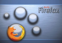 Firefox Brushed Aluminum Bubbles