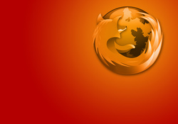 Orange Firey Firefox