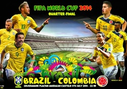 BRAZIL _ COLOMBIA WORLD CUP 2014 QUARTER_FINAL