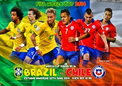 BRAZIL _ CHILE WORLD CUP 2014 ROUND OF 16