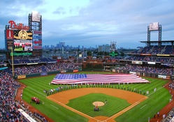Citizens Bank Park (Phillies) with American Flag