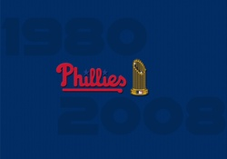 Philadelphia Phillies World Series Champions wiht World Series Trophy