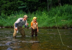 Father Daughter_Fly fishing