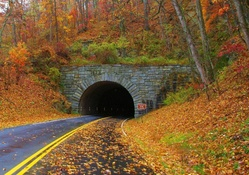 Tunnel in Blue Ridge Mountains