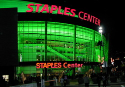 Los Angeles_ Staples Center (Green Lighting)