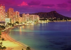 Hawaiian Cityscape at Night