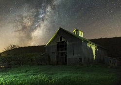 Old Barn Under Night Sky