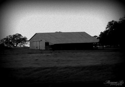 Black & White Hay Barn