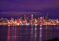 Seattle Night Cityscape