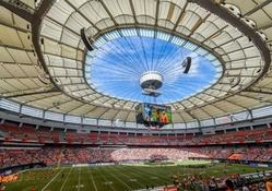 Inside BC Place, Vancouver