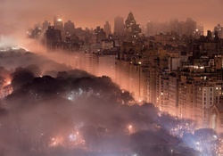 Foggy New York Skyline